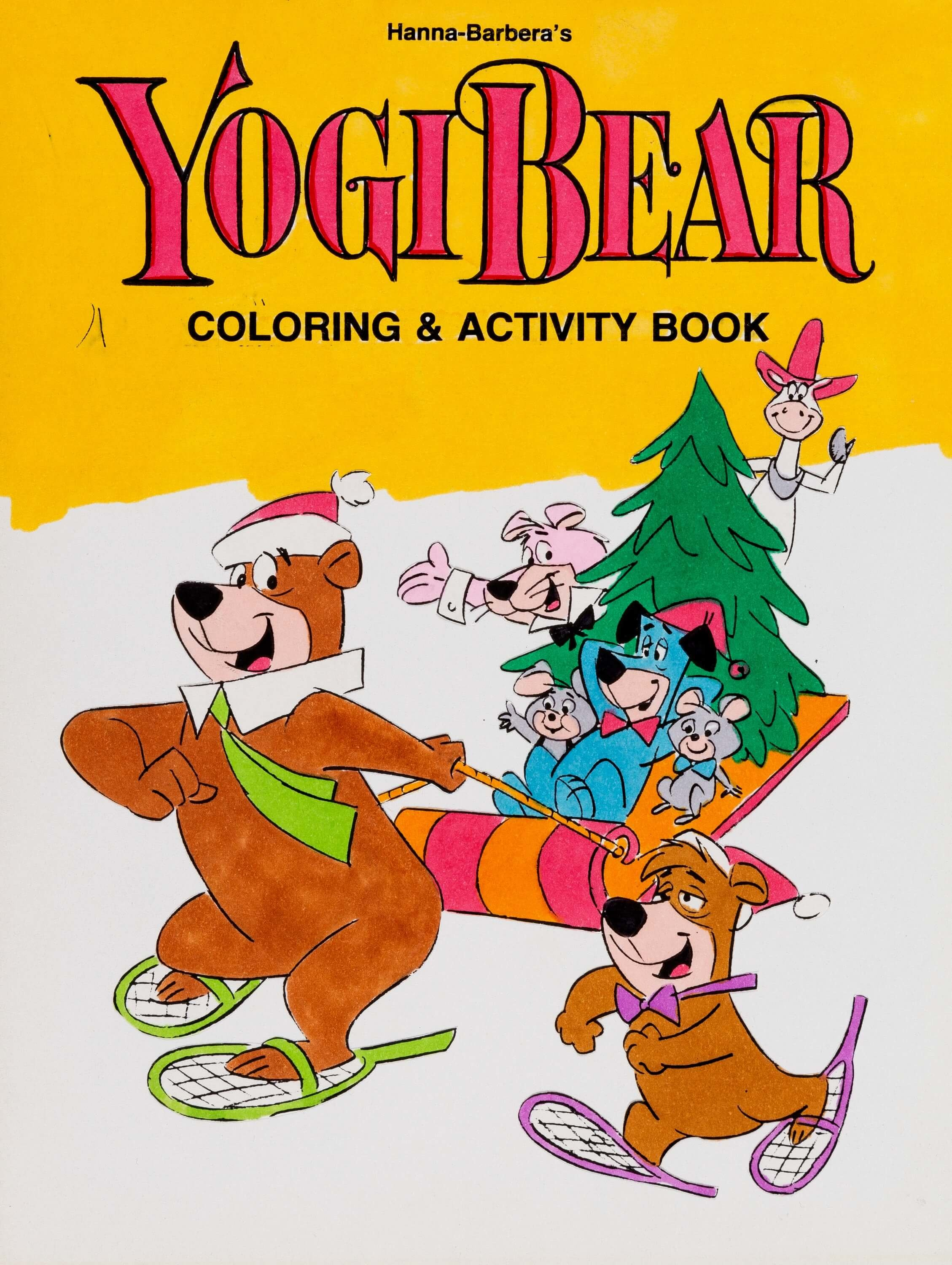 Yogi Bear Coloring Book Cover Illustration Original Art Hanna Barbera 1970s Here Is An Early Proof Artwork For A Childrens And